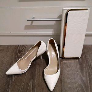 White Aldo kitten heels